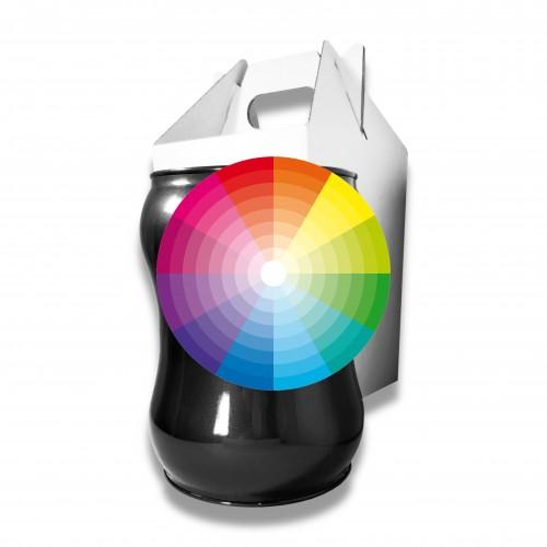 Ceneri urna acciaio s colore extra Ø cm 17,5 x 23 h con custodia cellulosa