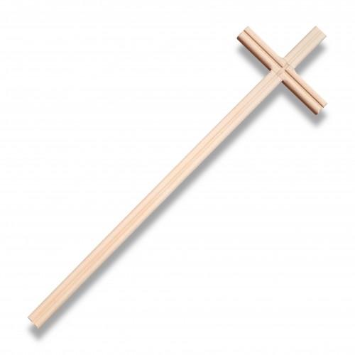 Croce legno faggio mm 155 x 565 grezza biodegradabile