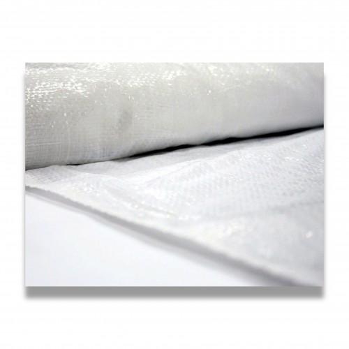 Tessuto rafia laminata bianca cm 160 g/mq 75 + 25