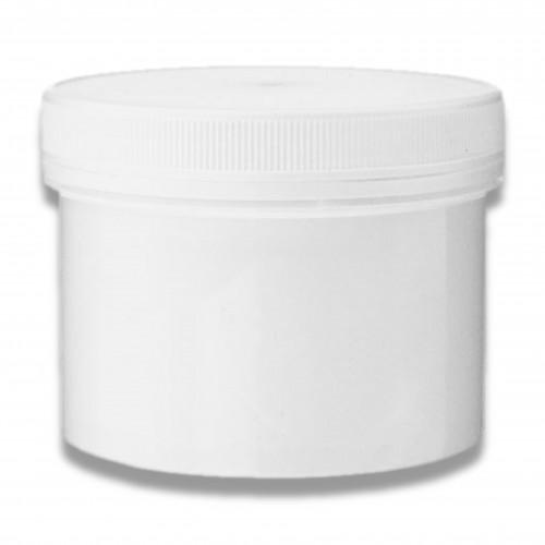 Vaso barattolo bianco ml 500 con tappo a vite e sottotappo