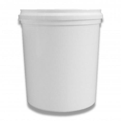 Vaso barattolo bianco ml 1000 con tappo a pressione