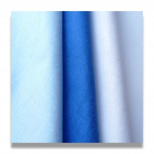 Tnt microfibra g/mq 100 cm 150 65poliestere 35poliammide blu elettrico