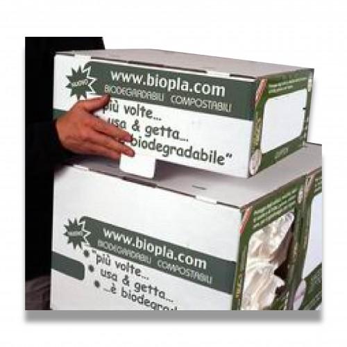 Scatola box piccolo cellulosa mm 450 x 328 x 169 mc 0,025 biodegradabile