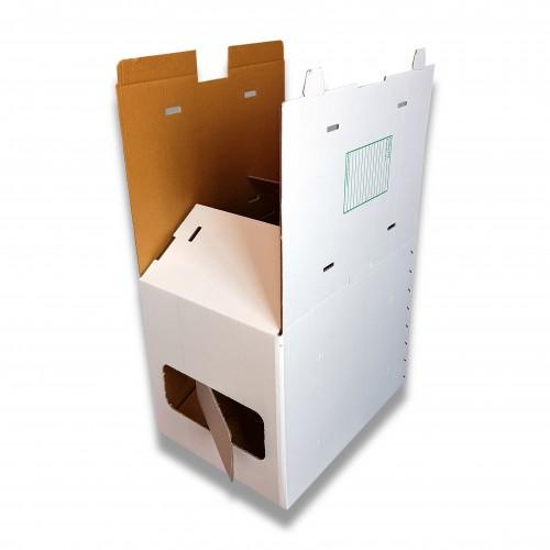Scatola box grande cellulosa mm 450 x 334 x 538 mc 0,080 biodegradabile