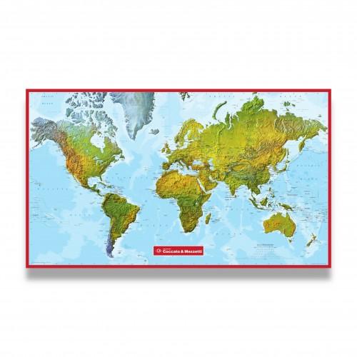 Gadget: planisfero murale fisico/politico cm 150 x 100