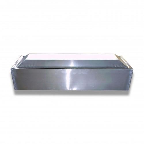 Cassone esumazione std diritto zinco 0,65 cm 210 x 68 x 51