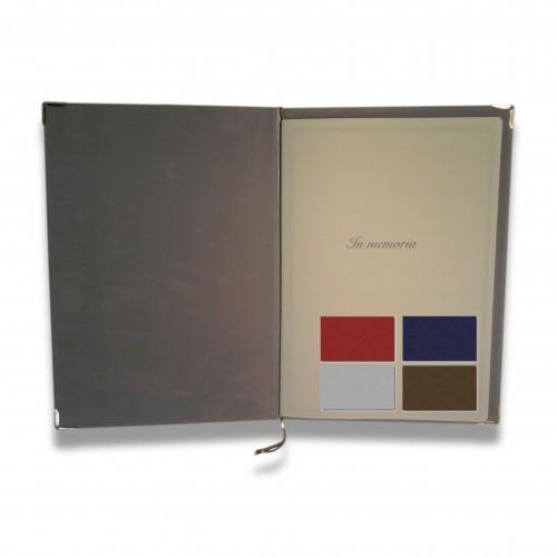 Promo: con spesa di E 450 minima omaggio di: n. 6 pz cod. 1213 Libro firma: vellutino cordoncino colori misti