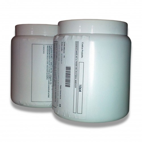 Promo: con spesa di E 650 minima omaggio di: n. 12 pz cod. 1064 Disinfettante fazzoletto microfibra pz 6 (kit con polvere disinfettante)